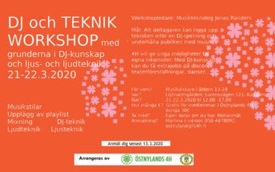 DJ och teknik workshop ordnas tillsammans med ÖN4H